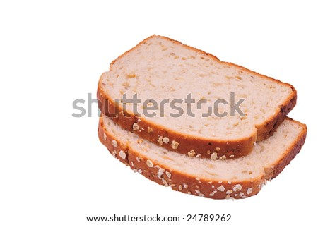 two slices of wheat bread