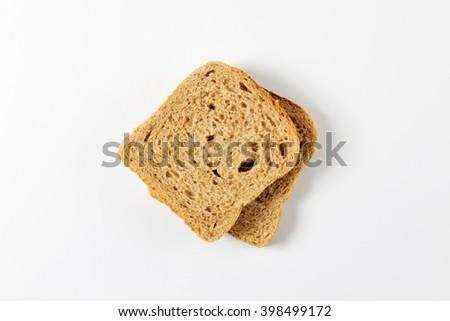 two slices of whole grain bread
