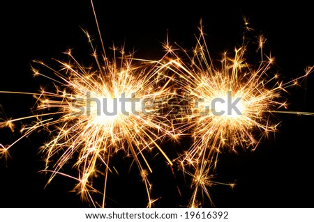 Two sparklers - stock photo