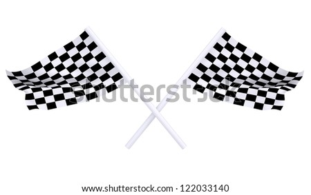 Two sports flag. Isolated render on a white background