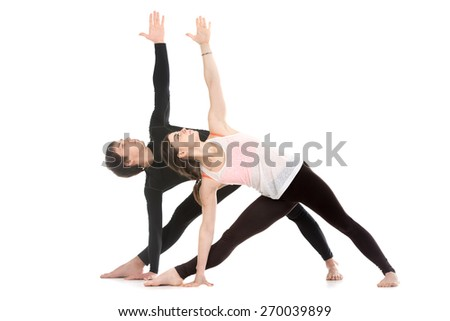 gymnastics two people yoga poses