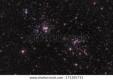 two star clusters as seen...