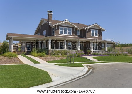 Two Story Arts & Crafts Style Home