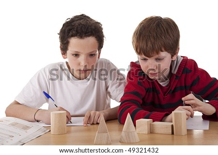 Two students in math´s class