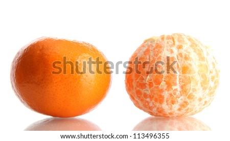 two sweet orange isolated on white