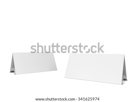 Two table cards. 3d illustration isolated on white background