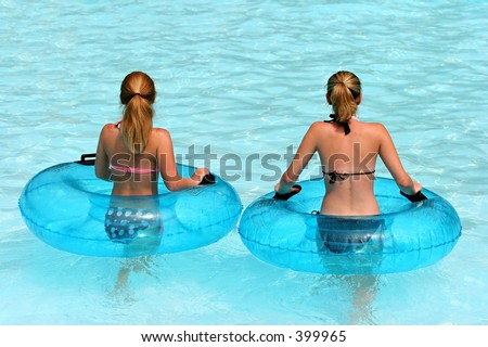 Young Girls at Water Park