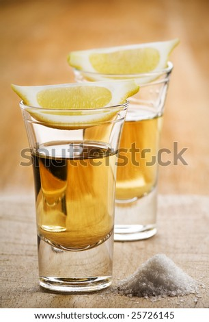 two tequila shot toast