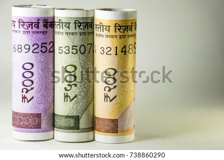 Two Thousand, Five Hundred and Two  Hundred New Indian Currency