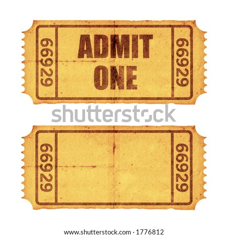 Two tickets. Check out image no. 2971336 for more tickets. - stock photo