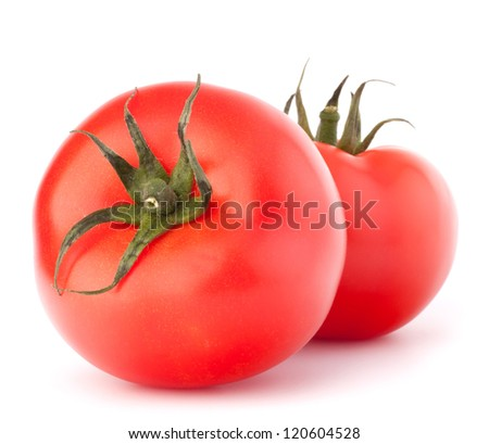 Two tomato vegetable isolated on white background cutout