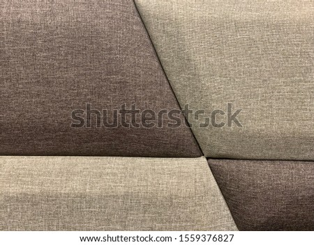 Two-tone headrest cushion pattern. dark gray - Light gray. Headrests at the head of the bed.
