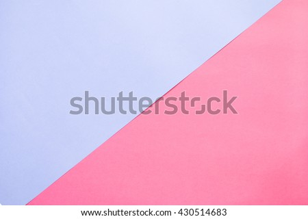 Two tone of blue and red paper background.