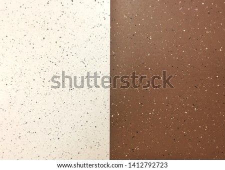 Two tone of brown and light brown vinyl sheet flooring texture background #1412792723