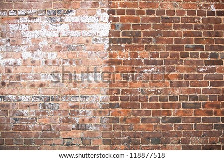 two tone old red brick wall texture background