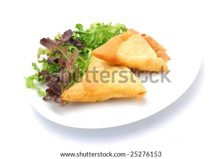 Two traditional South African Samosa pastry pockets