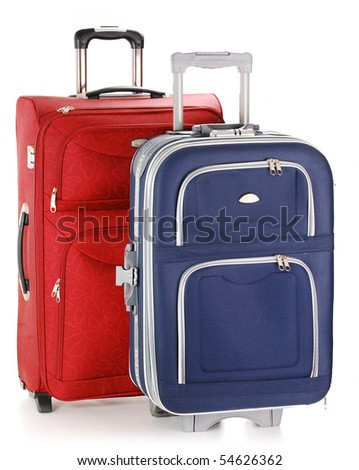 Two travel suitcases