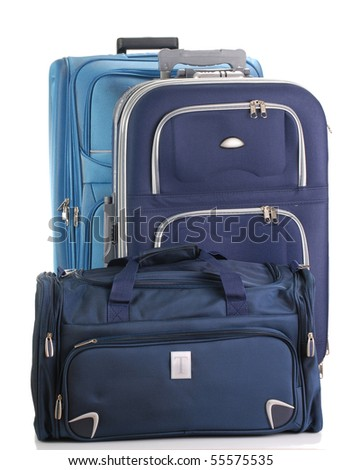 Two travel suitcases and travel bag