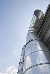 Two ventilation pipes