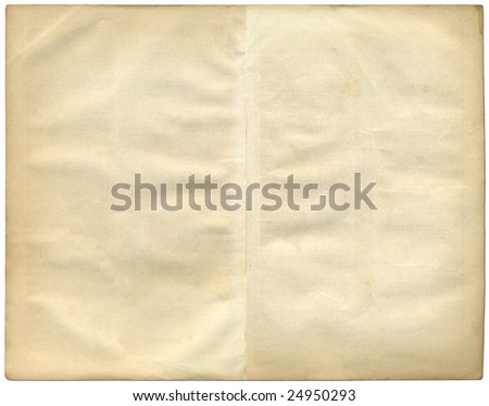 Two vintage pages from an old book. - stock photo