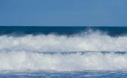 Two waves braking at the same time
