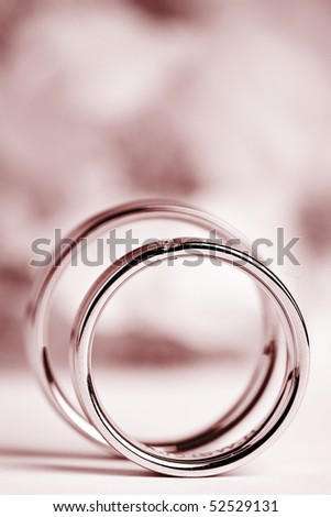 wedding flowers background. stock photo : two wedding