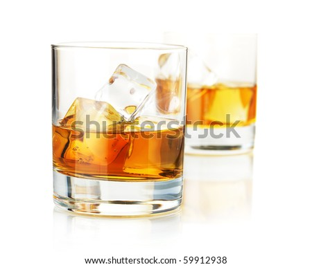 scotch glasses. Two whiskey glasses.