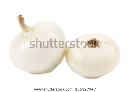 Two white onions.