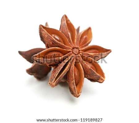 two whole star anise #119189827