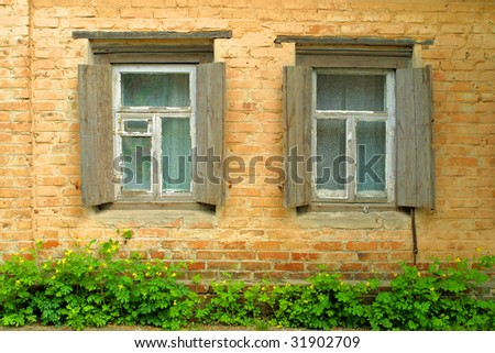 Two windows of old house