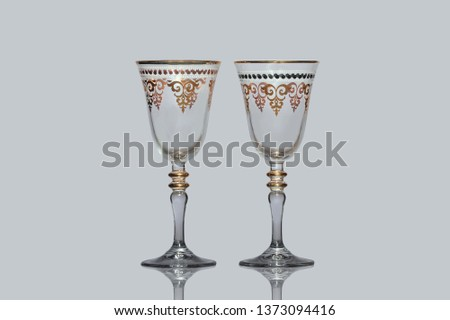two wineglass isolated #1373094416
