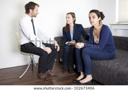 Two women during therapy session