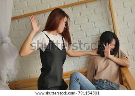 Asian cat fight fight woman