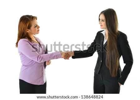 Two Women Handshake on a Deal