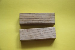 Two wood block toy as equal sign. Tolerance, equality and diversity conccept, Gender Equality.