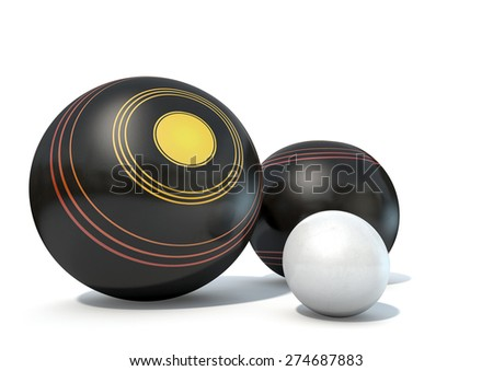 two wooden lawn bowling balls...