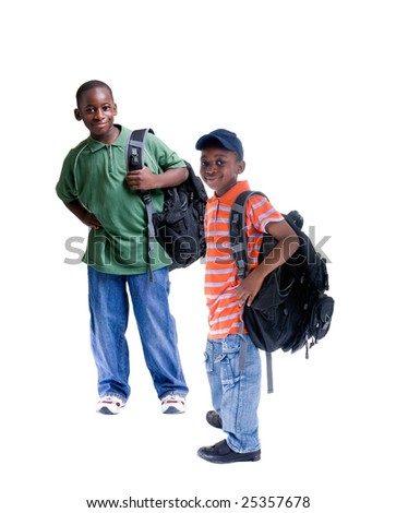 Two young african American students