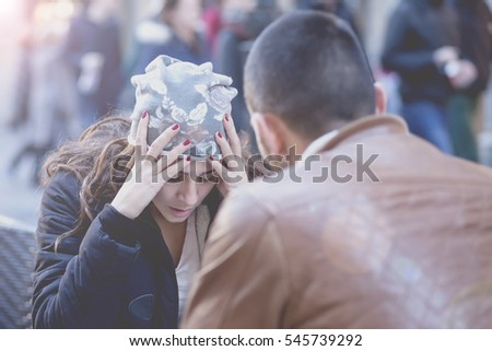 Two young people with long standing relationship want to break. Couple breaks up