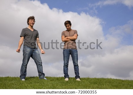 two young teenager at the park