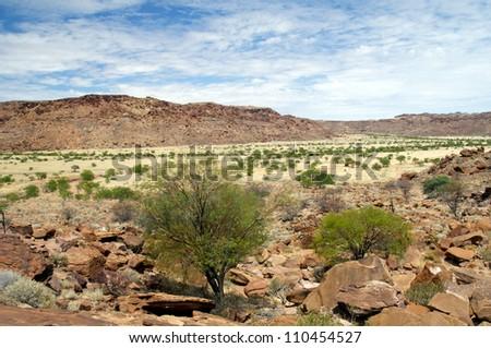 Twyfelfontein in Namibia, Africa