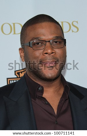 "Tyler Perry at ""Tyler Perry's Good Deeds"" Los Angeles Premiere,  Regal Cinemas, Los Angeles, CA 02-14-12 - stock photo"