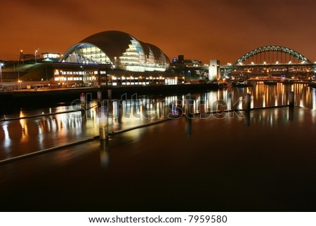 Tyne bridge and The Sage Gateshead