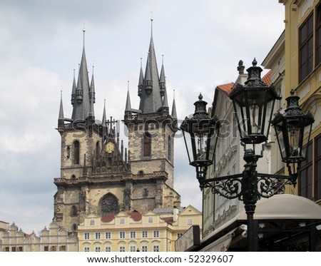 Tynsky chram cathedral in Prague