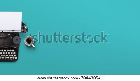 Typewriter header #704430541