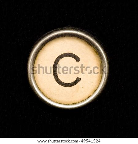 Typewriter letter C