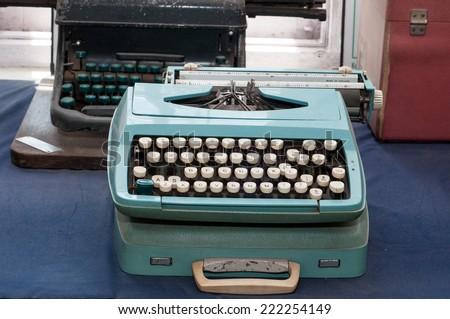 typewriter. Mid century retro typewriter.