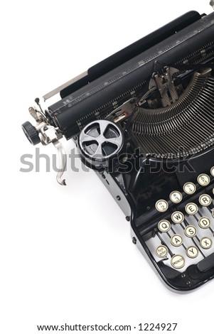 typewriter on white