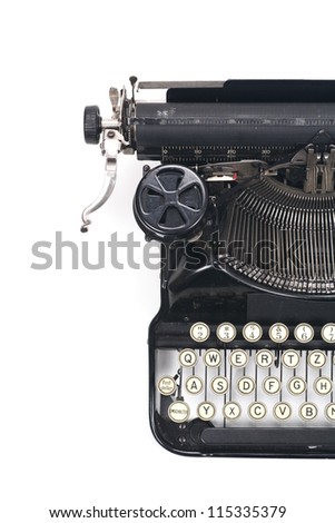 typewriter on white typing type writing write