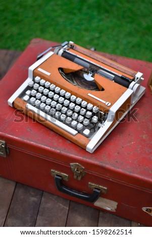 typewriter vintage. typewriter vintage and suitcase vintage. suitcase vintage