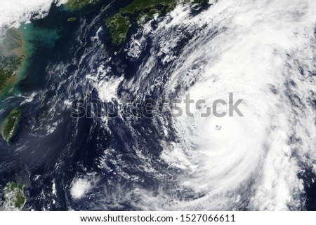 Typhoon Hagibis heading towards Japan in October 2019 - Elements of this image furnished by NASA #1527066611